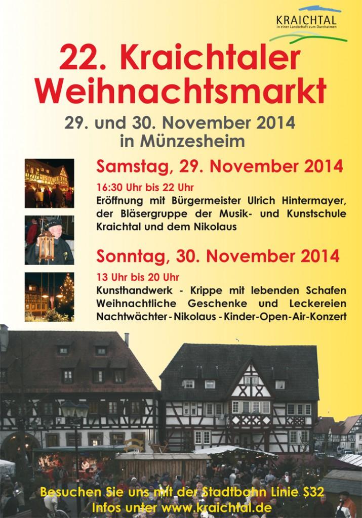 Offizielles Plakat der Stadt Kraichtal