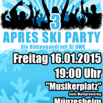 Après Ski Party des MV Münzesheim am 16. Januar 2015