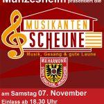Musikverein Münzesheim lädt am 7. November 2015 in die Musikanten-Scheune – Eintritt frei!