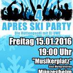 Après-Ski Party des MV Münzesheim am 15. Januar 2016