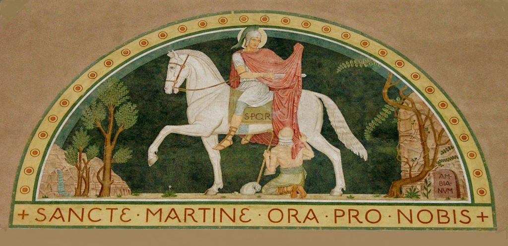 St. Martin, Bemalung des Westgiebels der Kirche der Erzabtei St. Martin zu Beuron, 1899/1900. Foto: Wikimedia Commons/Enslin (CC BY 2.5)