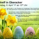 Dorftreff Oberacker lädt zum Ostertreff am 8. April 2017
